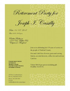 Joe's retirement flyer