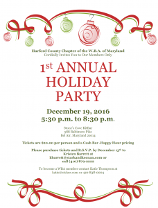 WBA Holiday Party